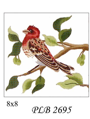 click here to view larger image of Purple Finch (13ct) (hand painted canvases)