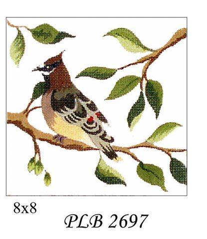 click here to view larger image of Cedar Wax Wing (13ct) (hand painted canvases)
