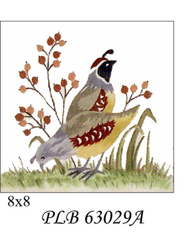 click here to view larger image of Two Quail (13ct) (hand painted canvases)