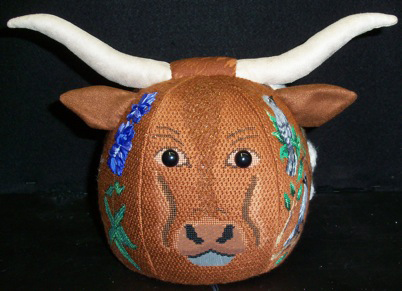click here to view larger image of PUDGIE Longhorn (hand painted canvases)