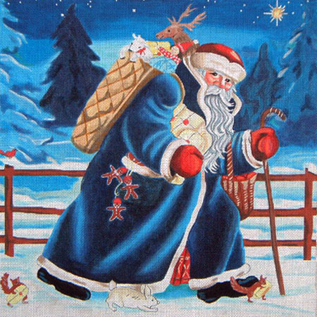 click here to view larger image of Finnish Santa (hand painted canvases)