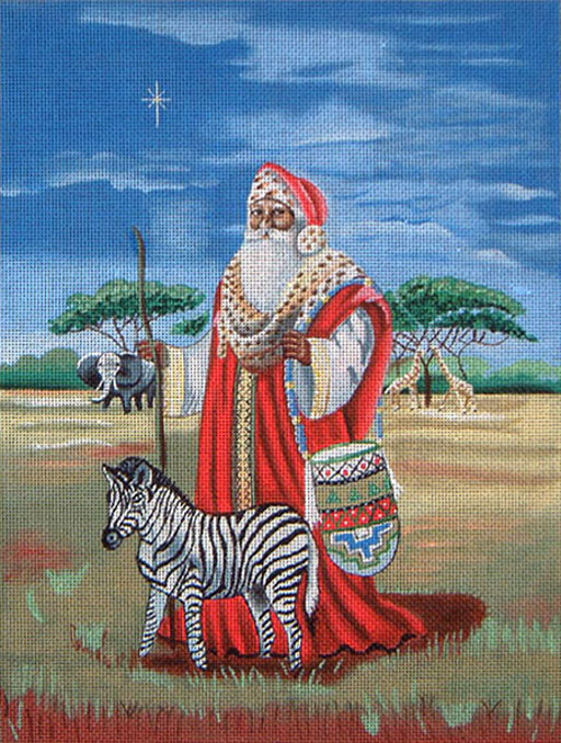 click here to view larger image of Jabulani Santa (hand painted canvases)