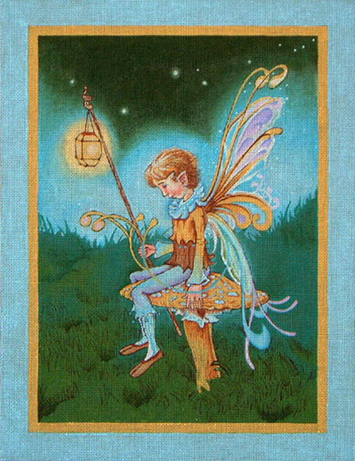 click here to view larger image of Fairy Boy With Lantern (hand painted canvases)