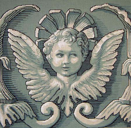 click here to view larger image of Cherub Face (hand painted canvases)