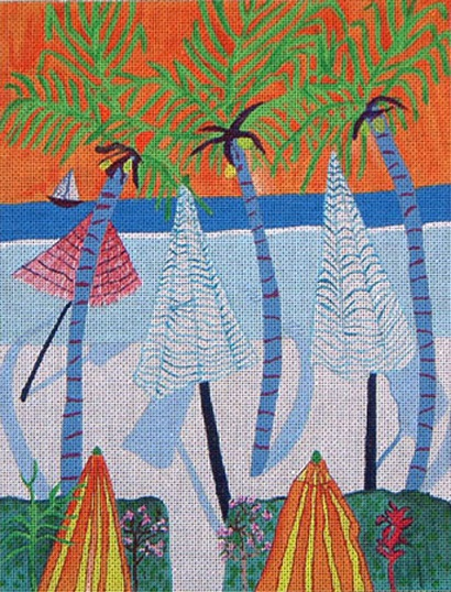 click here to view larger image of Beach Umbrellas (hand painted canvases)