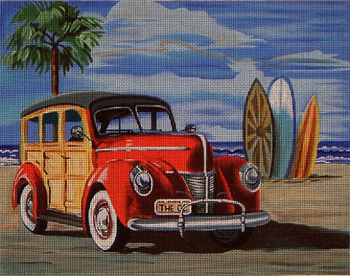 click here to view larger image of Red Woody (hand painted canvases)