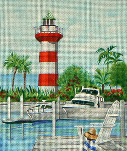click here to view larger image of Hilton Head Lighthouse (hand painted canvases)
