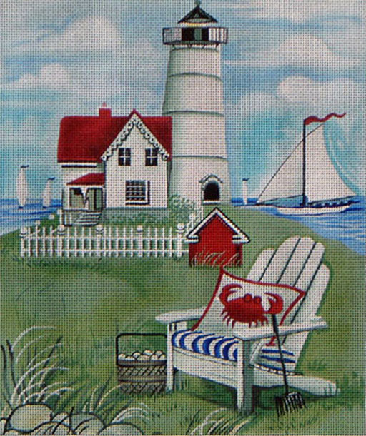 click here to view larger image of Cape Neddick Lighthouse (hand painted canvases)