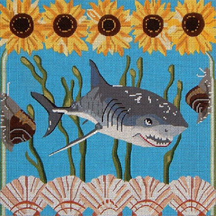 click here to view larger image of Shark (hand painted canvases)