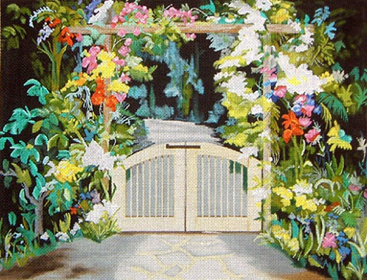 click here to view larger image of Gated Path (hand painted canvases)
