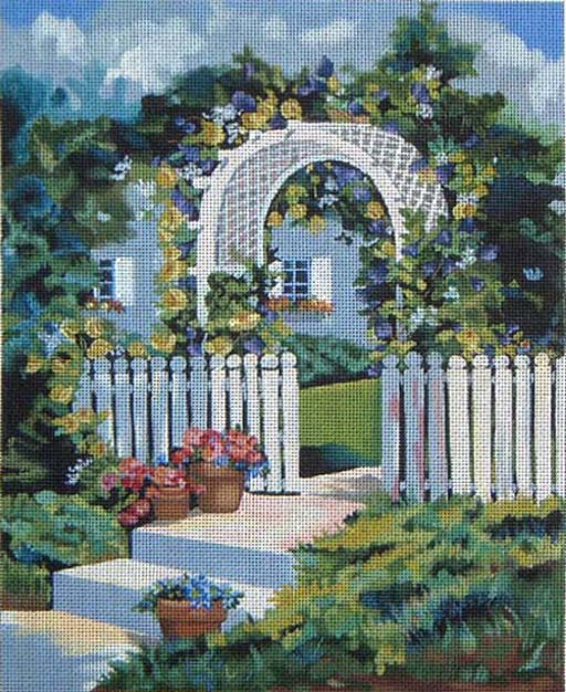 click here to view larger image of Front Gate (hand painted canvases)