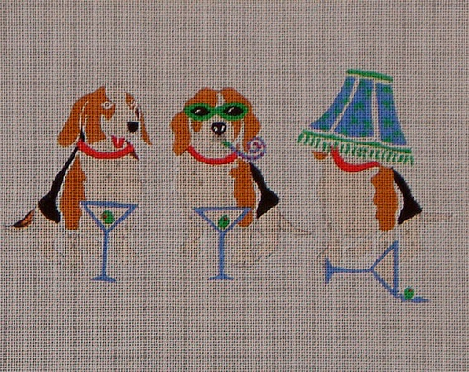 click here to view larger image of Beagles Party (hand painted canvases)