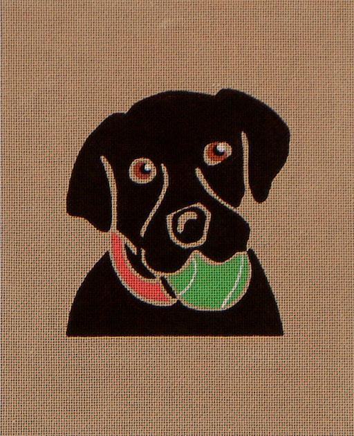 click here to view larger image of Black Lab With Ball (hand painted canvases)
