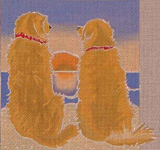 click here to view larger image of Golden Retriever Sunset (hand painted canvases)
