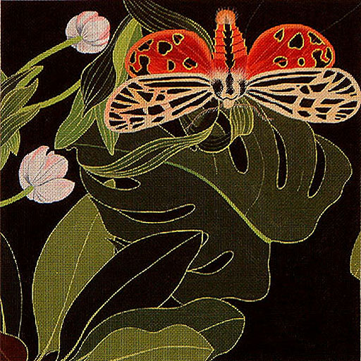 click here to view larger image of Moth With Tulips (hand painted canvases)