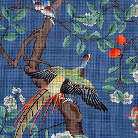 click here to view larger image of Asian Bird in Tree #2 (hand painted canvases)