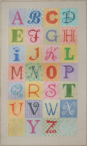 click here to view larger image of Alphabet - 13ct (hand painted canvases)