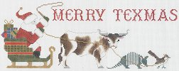 click here to view larger image of Merry Texmas Sleigh - Cap (hand painted canvases)