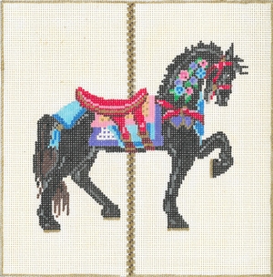 click here to view larger image of Carousel 3G (hand painted canvases)