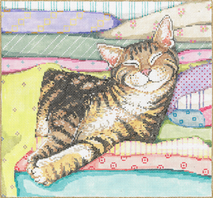 click here to view larger image of Catnap (hand painted canvases)