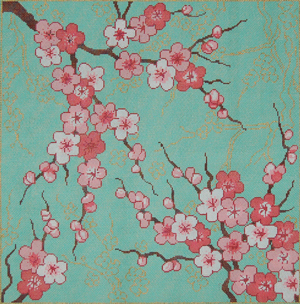 click here to view larger image of Cherry Blossoms (hand painted canvases)