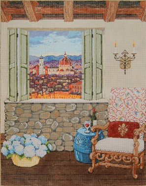 click here to view larger image of Firenze View (hand painted canvases)