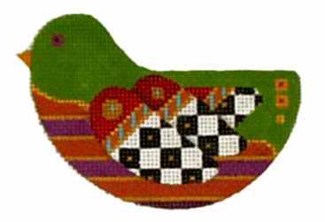 click here to view larger image of Fancy Checkered-Wing Bird (hand painted canvases)