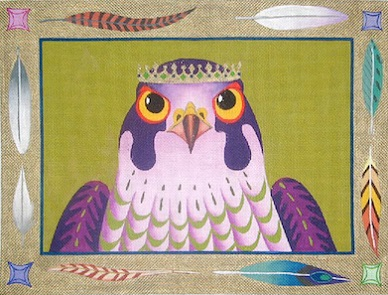 click here to view larger image of King Hawk - 13ct (hand painted canvases)