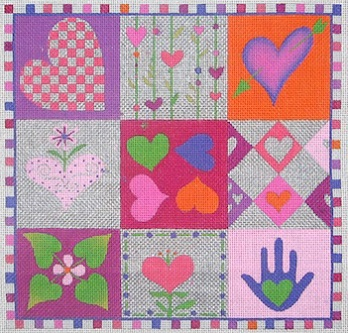 click here to view larger image of Quilt of Love (hand painted canvases)