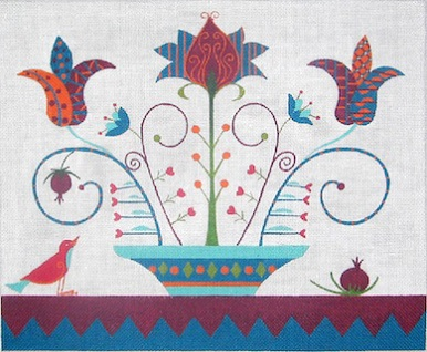 click here to view larger image of Pomegranate Bird (hand painted canvases)