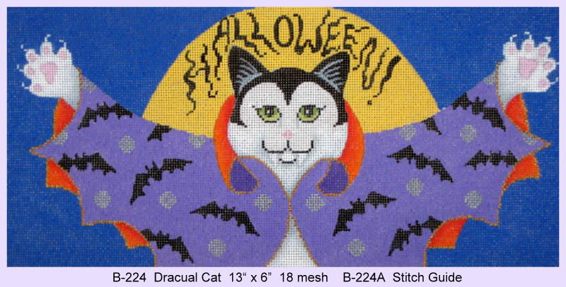 click here to view larger image of Dracula Cat - Stitch Guide (books)