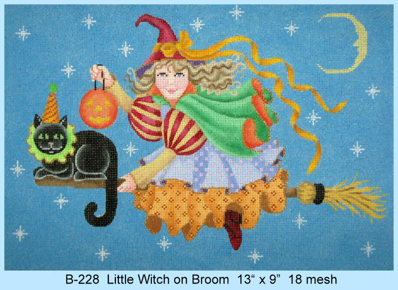 Little Witch On Broom - click here for more details