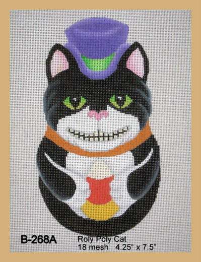 click here to view larger image of Roly Poly Cat (hand painted canvases)