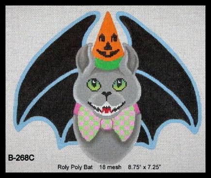 click here to view larger image of Roly Poly Bat (hand painted canvases)