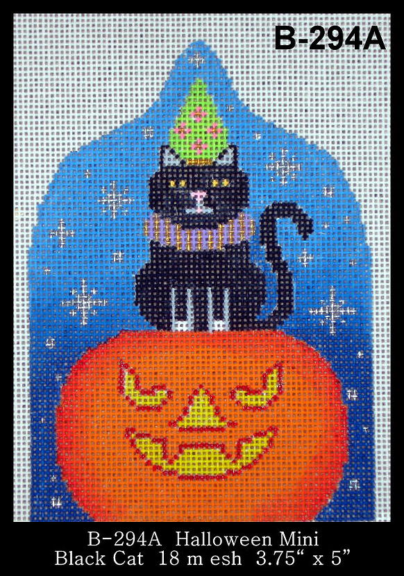 click here to view larger image of Halloween Mini Black Cat (hand painted canvases)