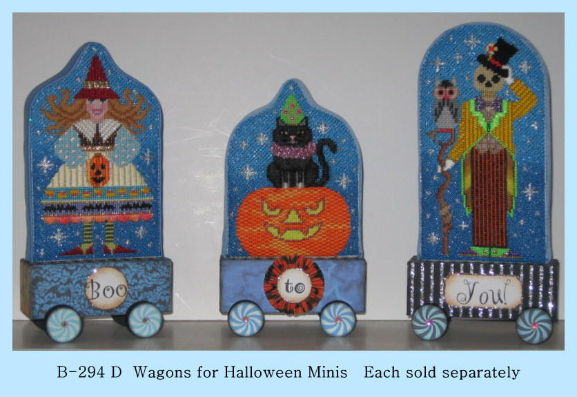click here to view larger image of Wagons for Halloween Minis (Boo, To, You) (accessories)