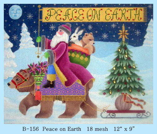 click here to view larger image of Peace on Earth (hand painted canvases)