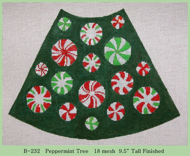 click here to view larger image of Peppermint Tree (hand painted canvases)