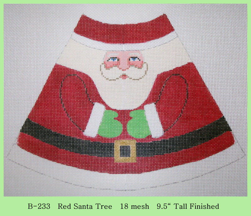 click here to view larger image of Red Santa Tree (hand painted canvases)