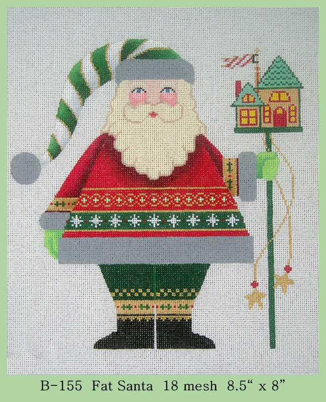 click here to view larger image of Fat Santa (hand painted canvases)