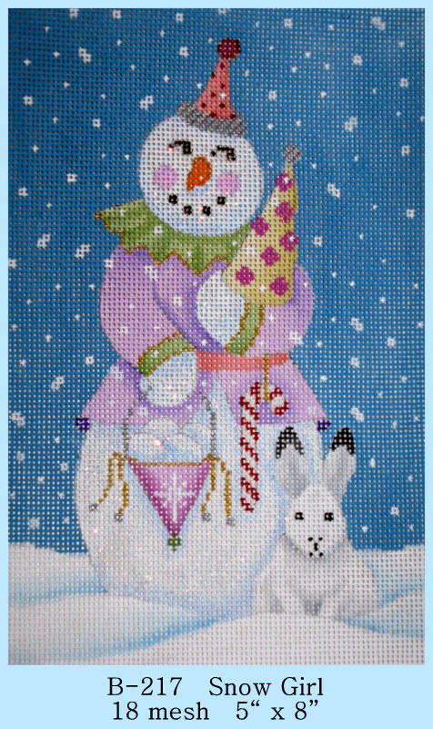 click here to view larger image of Snow Girl (hand painted canvases)