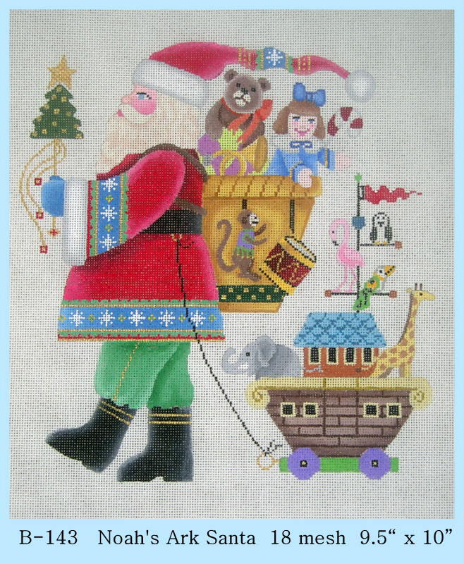 click here to view larger image of Noahs Ark Santa (hand painted canvases)