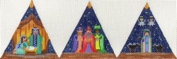 click here to view larger image of 3D Nativity Triangle (hand painted canvases)