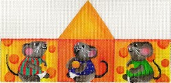 click here to view larger image of 3D Triangle Mice and Cheese (hand painted canvases)