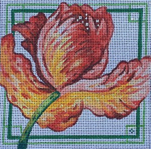 click here to view larger image of Red Tulip - 18ct (hand painted canvases)