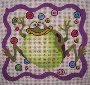 click here to view larger image of Frog Gone Wild (hand painted canvases)