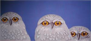 click here to view larger image of Snow Owls (hand painted canvases)