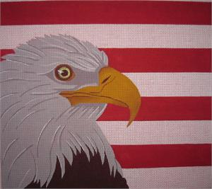 click here to view larger image of Eagle With Stripes (hand painted canvases)