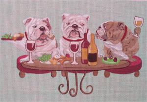 click here to view larger image of Bulldogs Wining (hand painted canvases)