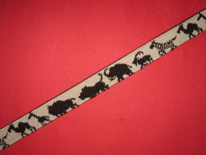click here to view larger image of African Animals Belt (hand painted canvases)